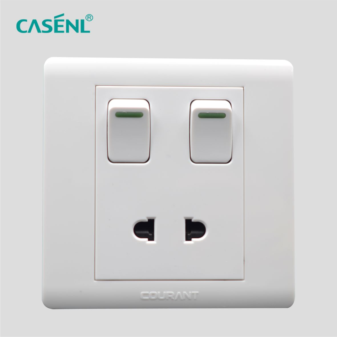 Two Gang Two Pin Switch Socket