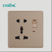 Two Three Pin Universal Switch Socket